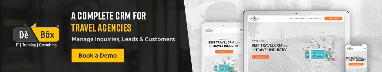 Travel Agency CRM Software Product List Top Banner - 1
