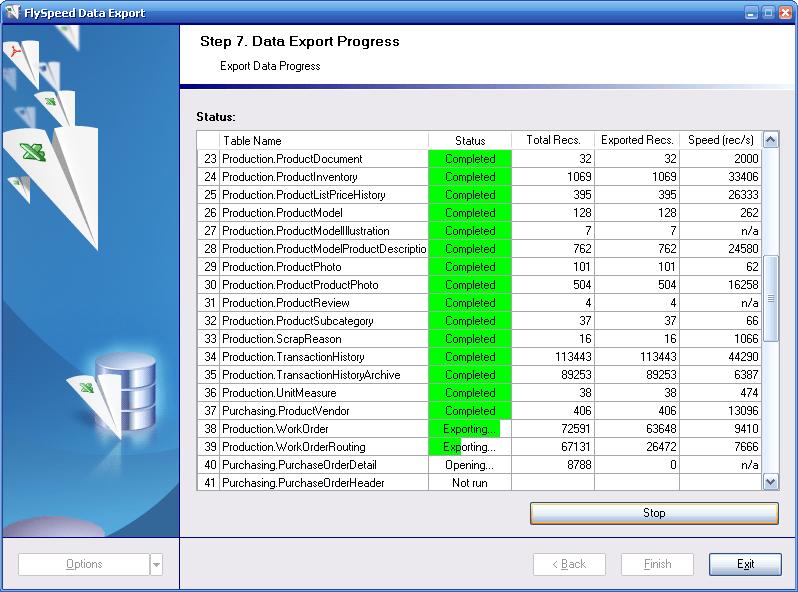 FlySpeed Data Export