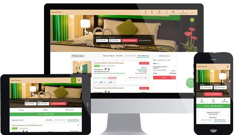 eZee Reservation Online Booking Engine